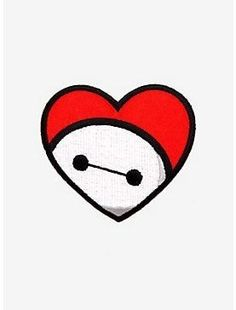 Loungefly Disney Bighero 6 Baymax Red Heart Iron On Patch Disney Drawings Sketches, Mini Drawings, Cute Disney Drawings, Cute Easy Drawings, Bmax Disney, Kawaii Disney, Punk Disney, Princess Disney, Baymax Drawing