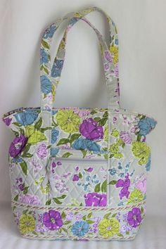Vera Bradley Watercolor Laura Style Tote Satchel Handbag Purse 1449fe0e6e993