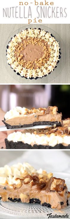 A candy bar meets Nutella on an Oreo crust — can you handle all of this chocolatey goodness?