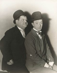 Stan Laurel & Oliver Hardy. nothing like slapstick comedy done by 2 of the best.  Love watching them with my Dad.  he laughs so hard that it is contagious.