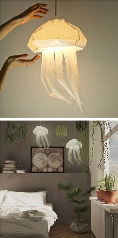 Etsy Shop VasiliLights creates DIY lamp shades inspired by aquatic creatures. Each sea animal lamp offers a colorful and contemporary alternative to traditional light fixtures. lamp Twinkling DIY Paper Lamp Shades Inspired by the Elegance of Sea Animals Animal Lamp, Lamp Inspiration, Style Inspiration, Home Goods Decor, Home Decor, Paper Lampshade, Diy Light Fixtures, Room Lamp, Cool Ideas