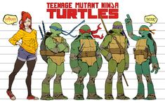 TMNT_height and physical structures model sheet by *Santolouco on deviantART