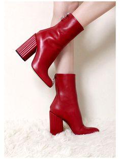 975527038e54 Petar Petrov Red Lipstick Ankle Boots Image 0 Höst Vinter, Läder, Rouge,  Trender