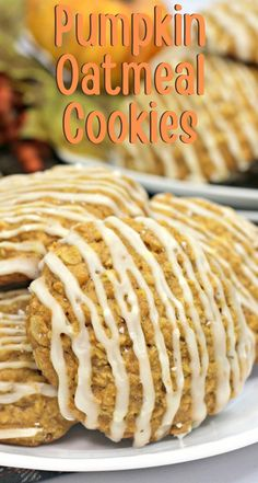 Chewy and delicious, these Pumpkin Oatmeal Cookies are always a big hit. The sweet maple icing adds an extra touch for the perfect ending. #Pumpkin #PumpkinCookies #FallBaking #PumpkinRecipes