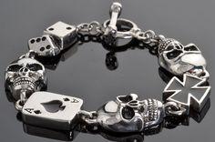 Ladies Men's Stainless Steel Biker Skull Ring Jewelry Punisher Eyepatch Cyborg Vampire Evil