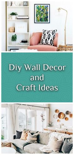 AMAZING, COST-EFFECTIVE AND EASY DIY WALL CRAFTS FOR THE BEGINNERS Diy Wall Decor, Bedroom Decor, Home Decor, Diy Wallpaper, Wall Hooks, Container Gardening, Repurposed, Easy Diy, Craft Ideas