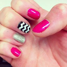 kaylah426's nails! Show us your geometric tips—tag your photos with #SephoraNailspotting to be featured on our social sites!