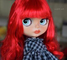 RESERVED Lyon Hart OOAK Custom Art Blythe Doll by por Rainfable