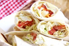 Curried tofu 'egg' salad wraps. Perfect for a picnic or lunch box.