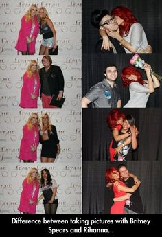Britney Vs. Rhianna.....   I now want o get a picture with Rhianna. She's awesome..