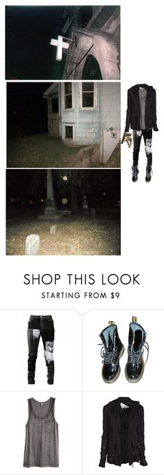 """""""im a preacher, sweating in the pews"""" by ghostboyyyy ❤ liked on Polyvore featuring Any Old Iron, Dr. Martens, H&M and Greg Lauren"""