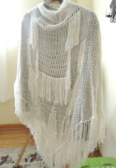 6 ft Tri-loom shawl. I added some open work and modifications on this shawl. Sandra's Stitches