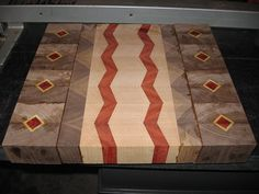 End Grain Cutting Board Plans | Cutting Board, Diamond and Zig Zag pattern, End Grain Up