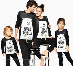 Family Pajamas, Matching Pajamas, Super Family ❥ Feel comfy and look fresh at home with our originally-designed premium quality cotton pajamas! Family Pjs, Matching Family Pajamas, Matching Family Outfits, Matching Pjs, Fall Family, Holiday Pajamas, Family Christmas Pajamas, Funny Pajamas, Kids Pajamas