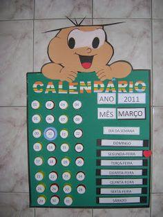 Blog da Tia Zan: Calendário Cebolinha