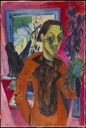 Ernst Ludwig Kirchner, Self-Portrait with Cat, 1920 | Harvard Art Museums/ Busch-Reisinger Museum