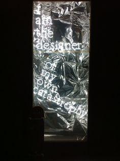 Neon writing