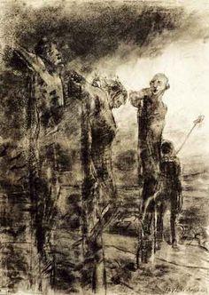 Распятие. 1892. Бумага, уголь, растушка, кисть. ГТГ. Ранее частное собрание, Женева