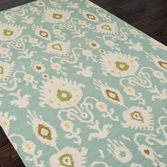 Jaipur Urban Bungalow Samir Cool Aqua Flat Weave Rug @Zinc_Door. I think I finally found the transitional rug I've been searching for!