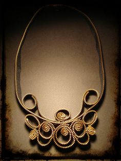 32$, handmade necklace made of zipper