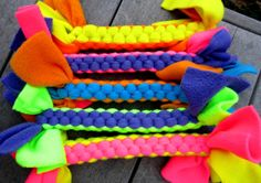 Fleece Tug Toy for Dogs in Neon Colors Extra Thick Large Size Homemade Dog Toys, Diy Dog Toys, Ferret Toys, Cat Toys, Toy Puppies, Toy Dogs, Small Dog Toys, Dog Blanket, Dog Items