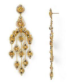 Miguel Ases Swarovski Chandelier Earrings | Bloomingdale's