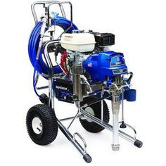 "The Graco 16W867 (Old# 258731) GMax II 3900 Hi-Boy ProContractor Series Gasoline Airless Sprayer comes complete with the Graco Contractor Spray Gun, RAC-X 517 Switch Tip and Guard and Two 50'x 1/4"" BlueMax Airless Hoses.With a 120 cc Honda engine and additional features for increased productivity, the GMAX II 3900 can handle up to two guns and is ideal for the professional contractor who sprays a wide variety of coatings.In addition, The ProContractor Series sprayer has all the features of…"