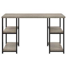 Elmwood Double Pedestal Desk - Sonoma Oak - Ameriwood Home