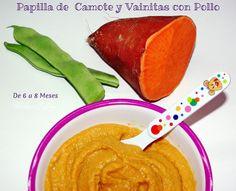 Papilla de Boniato y Judías con Pollo (Potito Bebe) Chamote y Vainitas | Recetas de una Gatita Enamorada