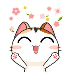 Gojill The Meow Animated Cartoon Gifs, Cute Cartoon Wallpapers, Desenho Tom E Jerry, Cute Bear Drawings, Cat Icon, Animation, Love Stickers, Kawaii Cute, Cute Gif