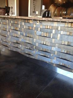 Stave bar front at brochelle tasting room