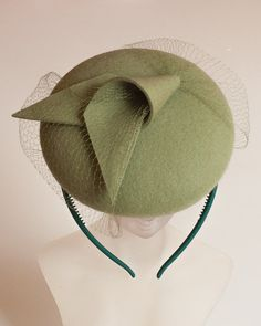 Unique Modern Green Felt Fascinator. Fascinator for Women. To see the source оf this item click on the picture. Please also visit my Etsy shop LarisaBоutique: https://www.etsy.com/shop/LarisaBoutique Thanks!
