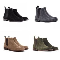 The Best Men's Shoes And Footwear : Which color would you pick? ORO Suede Chelsea Boots Collection ORO -Read More – Chelsea Boots Herren, Suede Chelsea Boots, Suede Boots Men, Black Chelsea Boots Outfit, Men Boots, Suede Leather, Best Shoes For Men, Men S Shoes, Galaxy Converse