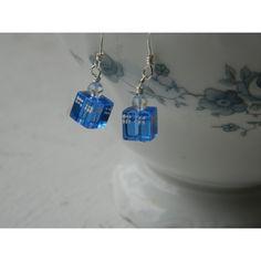 Doctor Who - Handmade Crystal Tardis Earrings ($5) ❤ liked on Polyvore