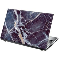 TaylorHe Laptop Skin Sticker Stunning Marble (€8,21) ❤ liked on Polyvore featuring accessories and tech