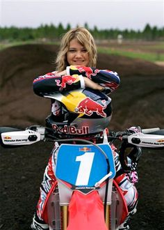 Ashley Fiolek is deaf and still is a professional motocross racer. Way to go! Breaking the 'norm' in multiple ways!!