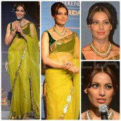 Bipasha Basu attended the IIFA press conference wearing a lovely Manish Malhotra saree. Hair tied in a stylish bun and Maheep Kapoor jewelry complete. Bollywood Fashion, Bollywood Actress, Manish Malhotra Saree, Wills Lifestyle, New Gossip, Classic Outfits, India Fashion, Hottest Photos, Indian Wear