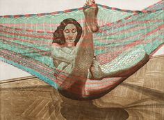 """Nude in a Hammock,"" 1982, Philip Pearlstein"