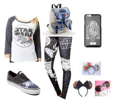 """Star Warz"" by kawaiicreeper15 on Polyvore featuring Hybrid, Vans, Forever 21 and Disney"