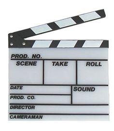 Hollywood Film Clapboard