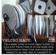 Velcro hack for usin