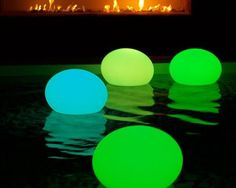 Great idea for a pool party -- or other groovy get together to help set the mood...Space Lighting has transition lighting to help you get the party started! Cubes, rocks, towers..all shapes and sizes! spacelighting.com  Find more great party theme and decor ideas at YouCanPlanAParty.com