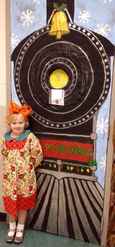 Polar Express classroom door.
