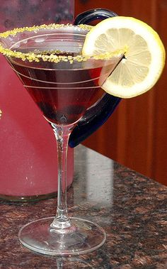 """Lemon-Blueberry Martini    In the Kitchen With ... Sandy Rasque, Alpharetta    Nominated by neighbor Marianne Borden: """"[Sandy] hails from Southern California, and she has spread much sunshine on this neck of the woods. It all began with Sandy's wonderful     Yummy Halloween Treats!"""