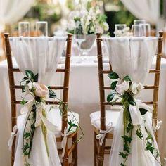 Shabby & chic vintage wedding decor ideas ❤ see more: http:// Wedding Chair Sashes, Wedding Chair Signs, Wedding Chair Decorations, Wedding Sash, Wedding Chairs, Chic Wedding, Trendy Wedding, Wedding Centerpieces, Wedding Table