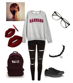 """""""Untitled #180"""" by elainia on Polyvore featuring River Island, H&M, ZeroUV, Converse and Lime Crime"""