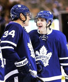 Happy Auston matthews and Mitch marner.--Toront Maple Leafs
