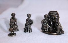 Miniature pewter Ausberg Beer keg, and people