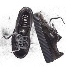 Puma X Rihanna Rebel Velvet Creeper Sneaker - Glacier