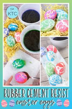 Use rubber cement resist to create these super bold and graphic decorated Easter eggs. decorating videos Easter Egg Decorating with Rubber Cement Resist Easter Crafts For Toddlers, Easter Art, Easter Activities, Easter Crafts For Kids, Toddler Crafts, Summer Crafts, Travel Activities, Summer Activities, Learning Activities
